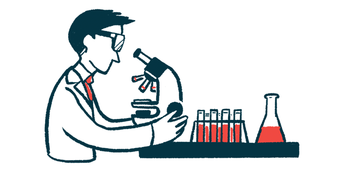Latinos and Parkinson's research | Parkinson's News Today | illustration of researcher looking at samples through microscope