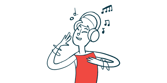 prescription music | Parkinson's News Today | MedRhythms partners with UMG | woman listening to music on headphones