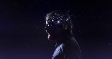 protein aggregation | Parkinson's News Today | International Space Station | ShutterStock photo of man with brain overlay
